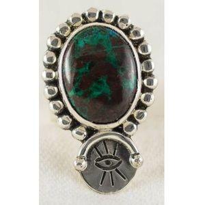 NEW OOAK Turquoise Evil Eye Ring